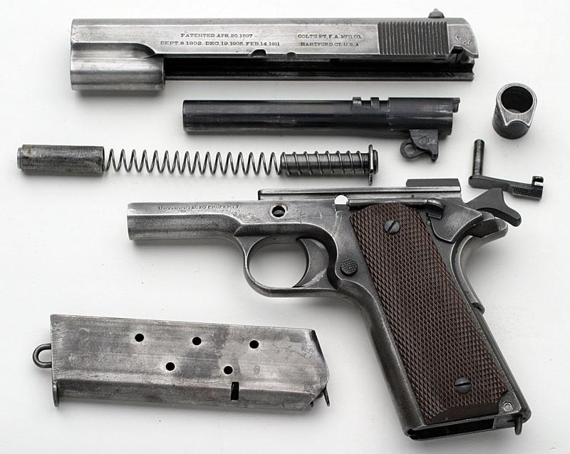 Colt 1911 пистолет Джона Мозеса Браунинга